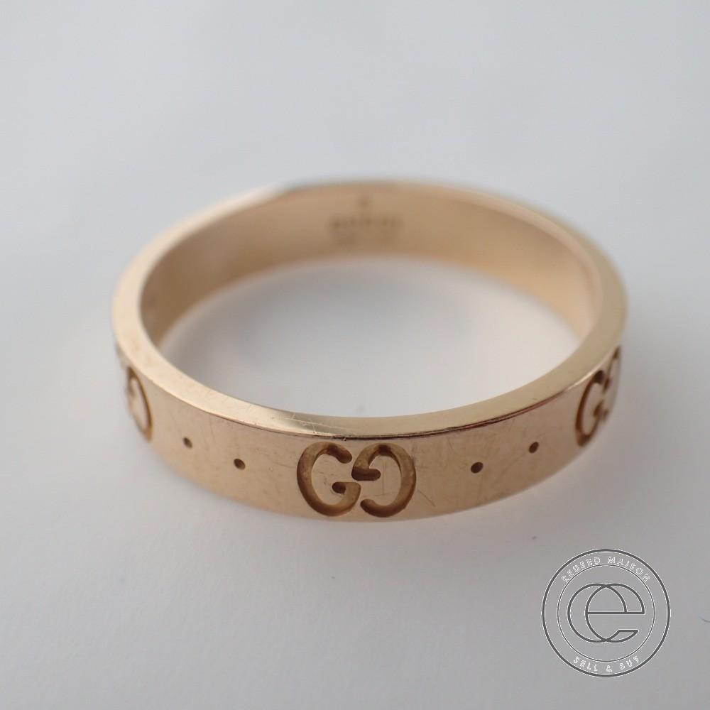 GUCCI グッチ K18 ICON アイコン リング 指輪 19 ピンクゴールド メンズ 【中古】