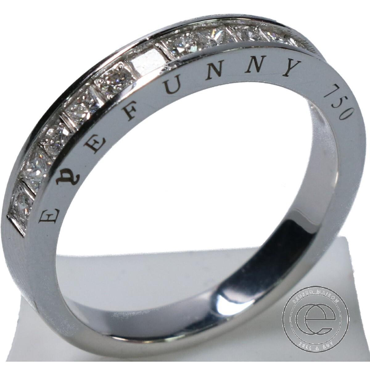 EYEFUNNY アイファニー RG003 18KWG 13Pダイヤモンド P&R リング 16号 指輪 ホワイトゴールド メンズ 【中古】