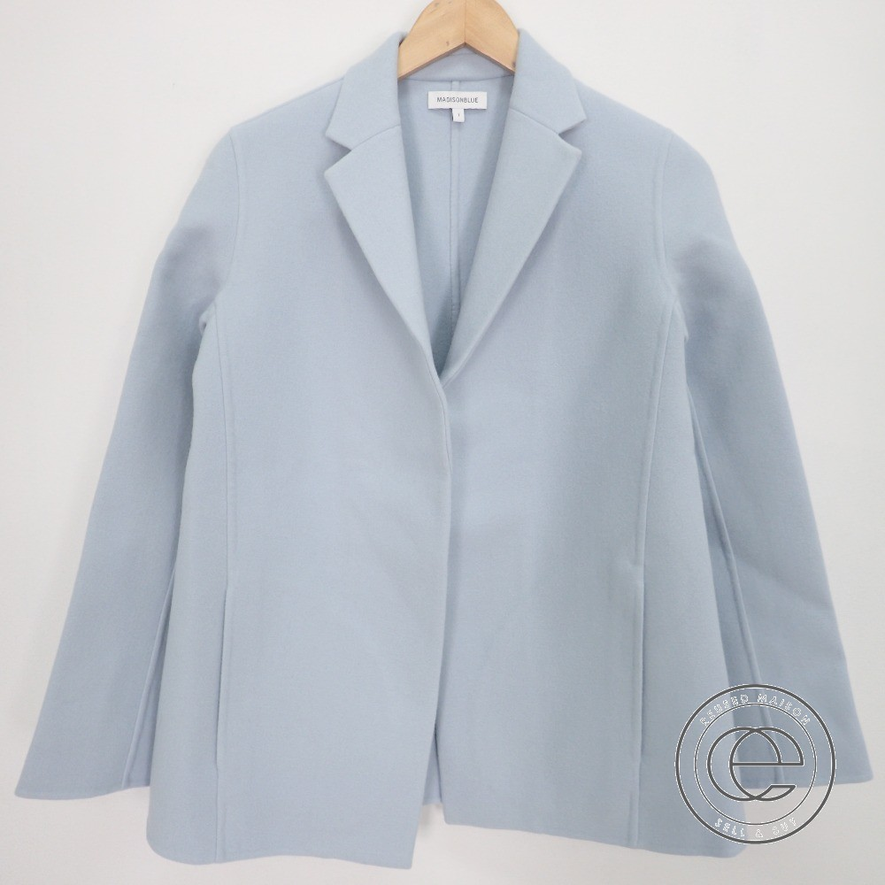 MADISON BLUE マディソンブルー MB174-1005 ウール ジャケット 01(S) SAX レディース 【中古】