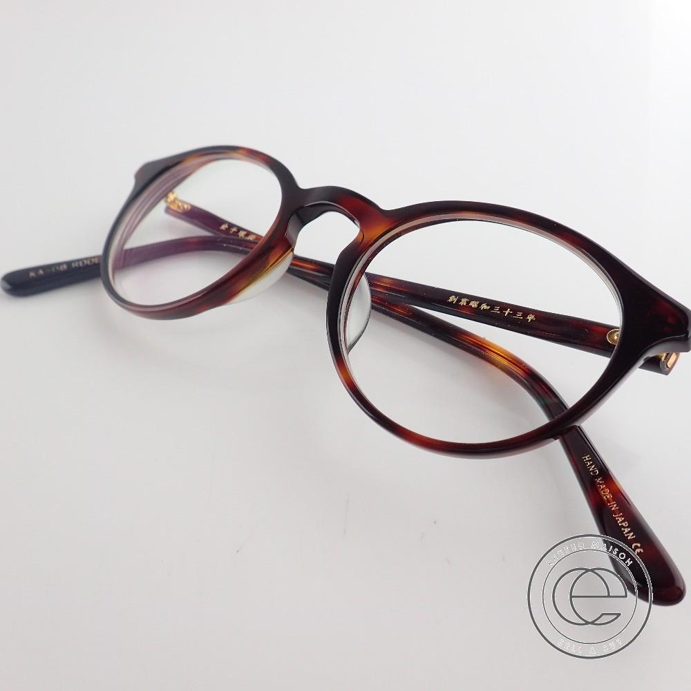 KANEKO OPTICAL 金子眼鏡 KA-08 RDDE ボストンタイプ 度入りレンズ アセテートフレーム メガネ 眼鏡 デミブラウン 【中古】