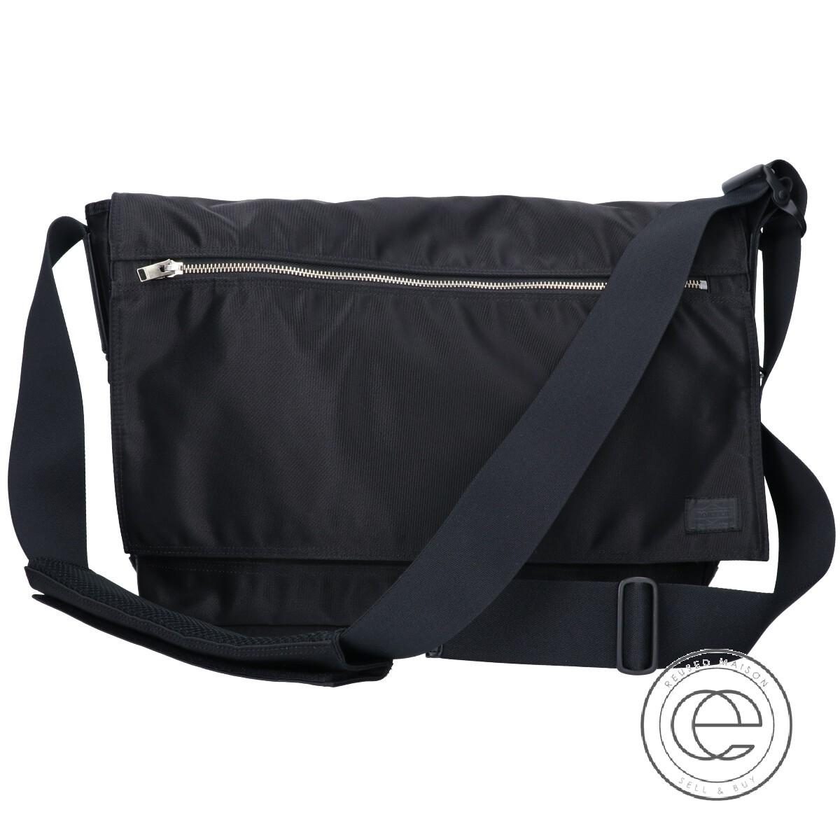 PORTER ポーター 822-06128 LIFT MESSENGER BAG(L) リフト メッセンジャー/ ショルダーバッグ ブラック メンズ 【中古】