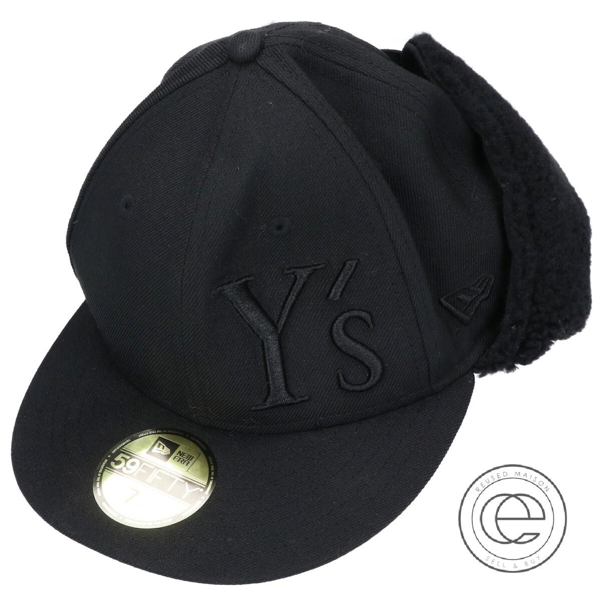 帽子 【未使用◎】xNEW LOGO 1/8 Y's ワイズ DOGEAR メンズ ブラック 11554418 YS 7 ERAニューエラ CAP ドッグイヤーワイズロゴキャップ 【中古】