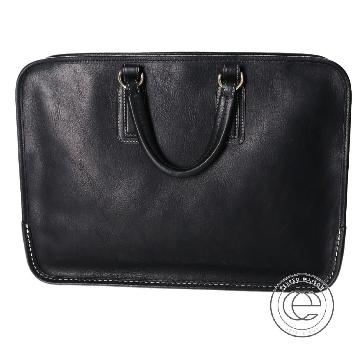 専門店 土屋鞄 URBANO ウルバーノ アーバン ブリーフケース 本店 中古 ブラック メンズ