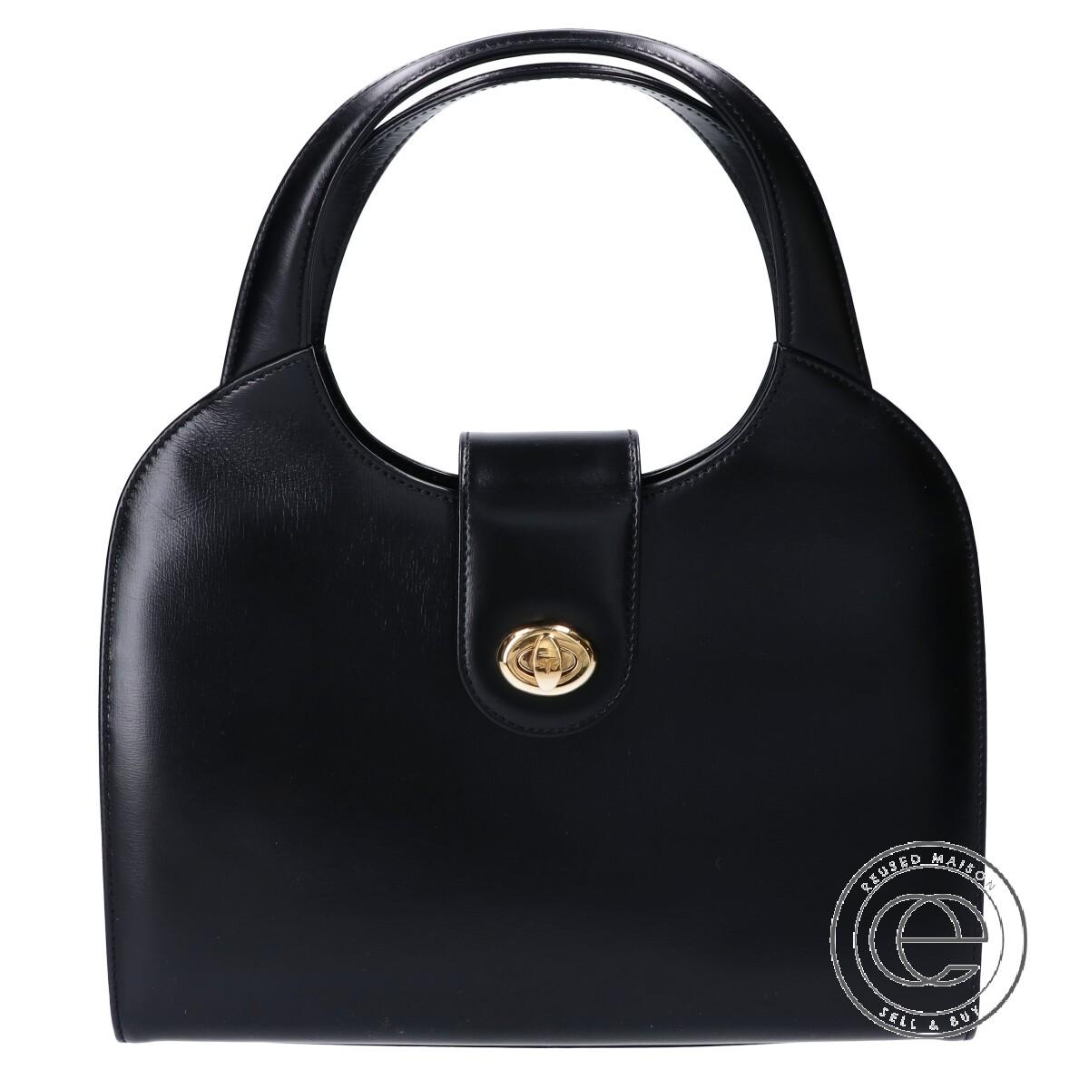 5%OFF TANINOCRISCI タニノクリスチー サークルハンドル GD金具 レザーフォーマル レディース ブラック セール 中古 ハンドバッグ