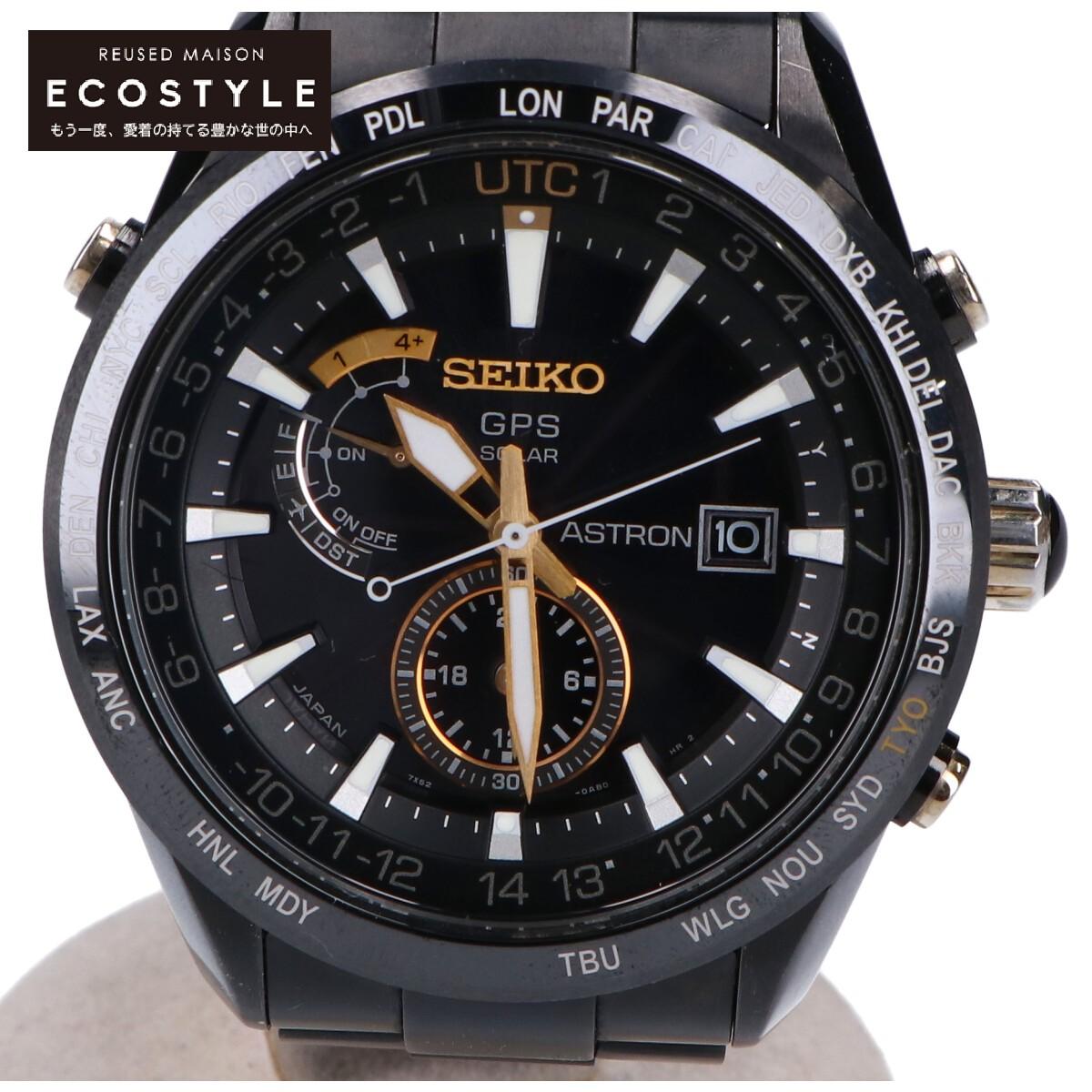 SEIKO セイコー SBXA100 cal.7X52 ASTRON アストロン 100周年記念 服部金太郎特別限定モデル 中古 ブラック メンズ 腕時計 世界限定5 000本 年間定番 即出荷 GPSソーラー電波