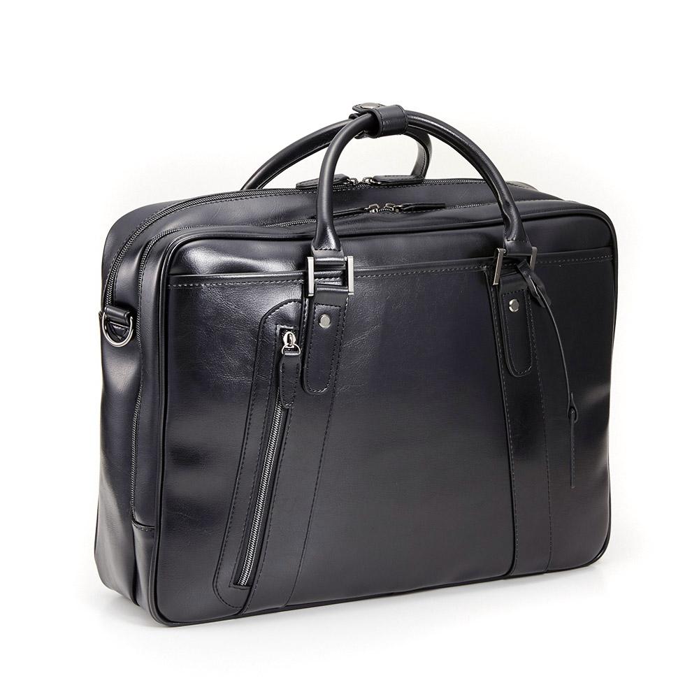 【2019年新モデル】 徹底的に黒にこだわった ビジネスバッグ 2層式 メンズ ブランド a4 当店オリジナルカラー オール ブラック ネット限定販売 通勤 出張 PC A4 2way