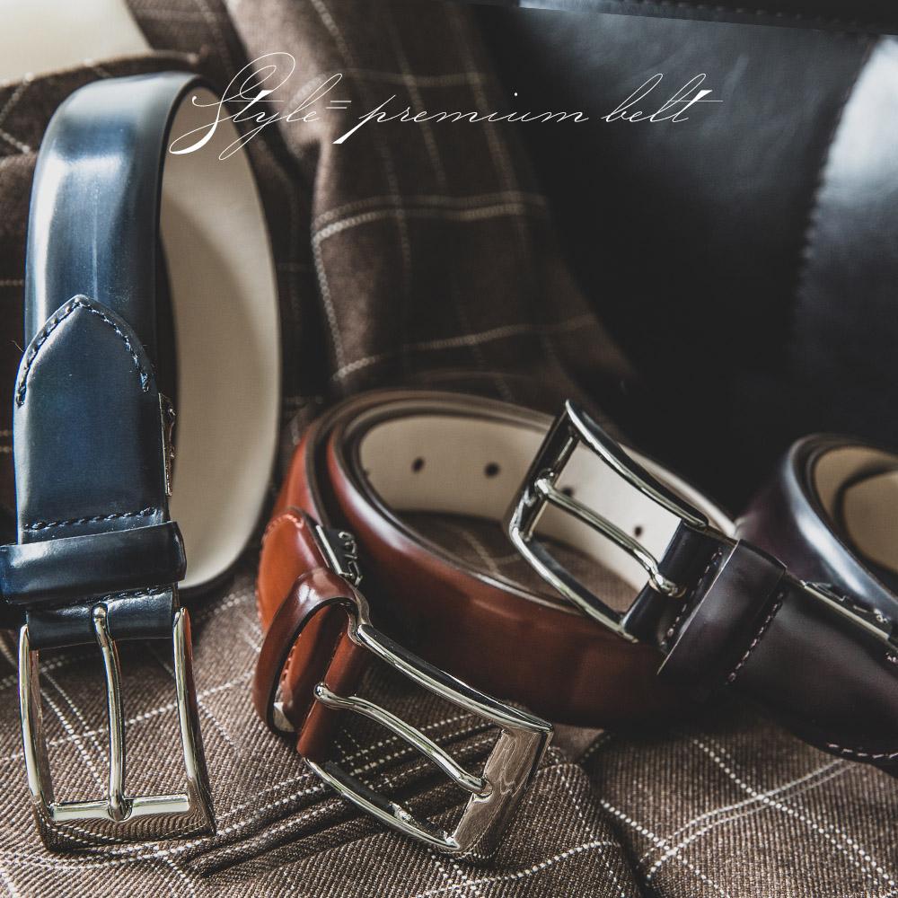 メンズ ベルト イタリア リナルディ社製アドバンレザ 日本製 ビジネスベルト 送料無料 ダークネイビー バーガンディ ライトブラウン ブラック 長沢ベルト