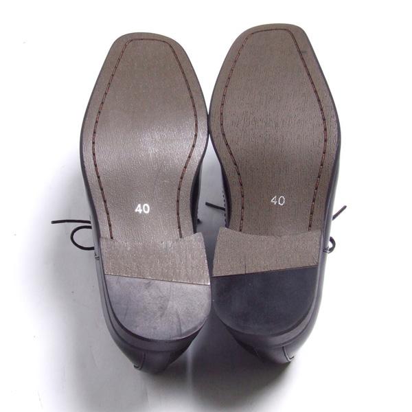 商务皮鞋合成革 LASSU FRISS 青铜标签 933 HMO 尖黑色 (黑色) 24.5 厘米至 27 厘米