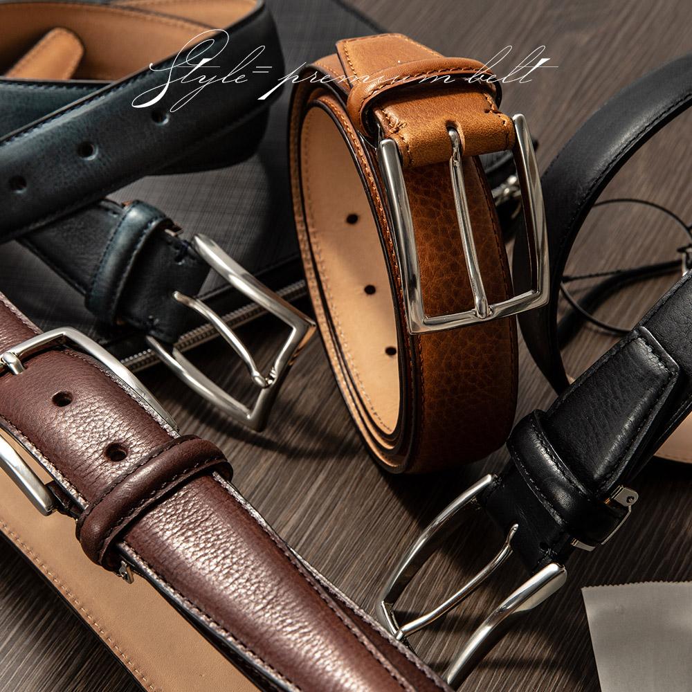 ベルト メンズ 日本製 ビジネスベルト メンズベルト 長沢ベルト ミネルバボックスフェザー 1枚1枚職人によって丹念に作られる極上の革