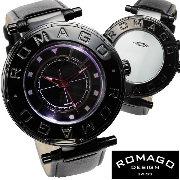 腕時計 メンズ レディース ブランド 1年保証 正規 ROMAGO(ロマゴ) FLOW ミラー文字盤 ビッグフェイス腕時計 BOX 保証書付き