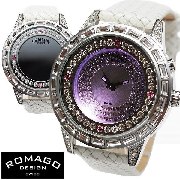 腕時計 メンズ レディース ブランド 1年保証 正規 ROMAGO ロマゴ ROMANCE ミラー文字盤 ビッグフェイス 腕時計 BOX 保証書付