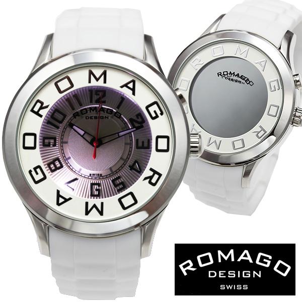 腕時計 メンズ レディース ブランド 1年保証 正規 ROMAGO ロマゴ ATTRACTION ミラー文字盤 ビッグフェイス腕時計 BOX 保証書付