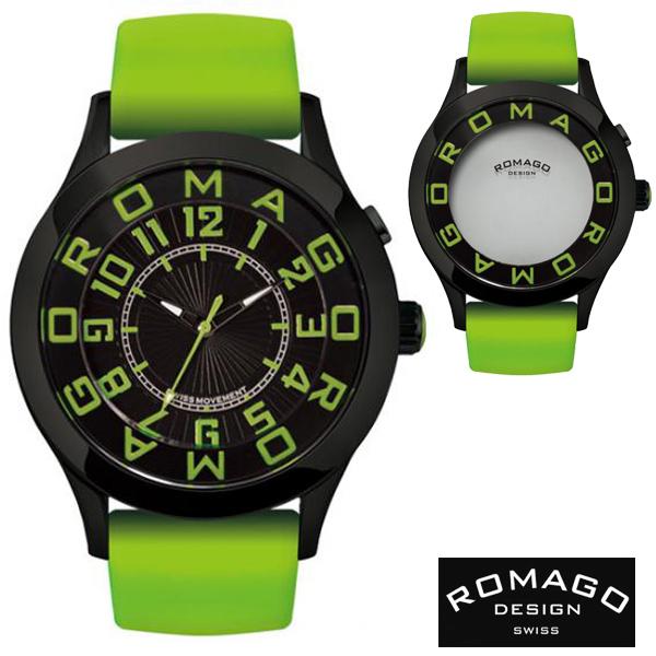 腕時計 メンズ レディース ブランド 1年保証 正規 ROMAGO   ロマゴ) ATTRACTION ミラー文字盤 ビッグフェイス 腕時計 BOX 保証書付