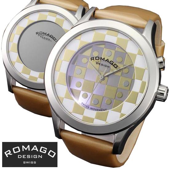 腕時計 メンズ レディース ブランド 1年保証 正規 ROMAGO ロマゴ FASHIONCODE ミラー文字盤 ビッグフェイス 腕時計 BOX 保証書付