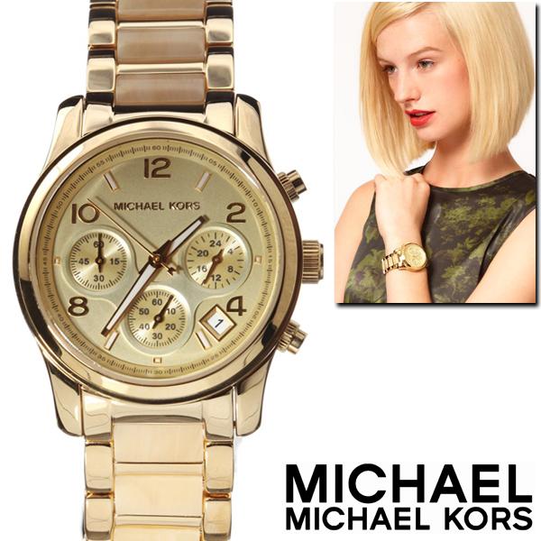 腕時計 メンズ レディース ブランド 送料無料 1年保証 MICHAEL KORS マイケル コース レディース 異素材 MIX クロノグラフ 腕時計 BOX 保証書付