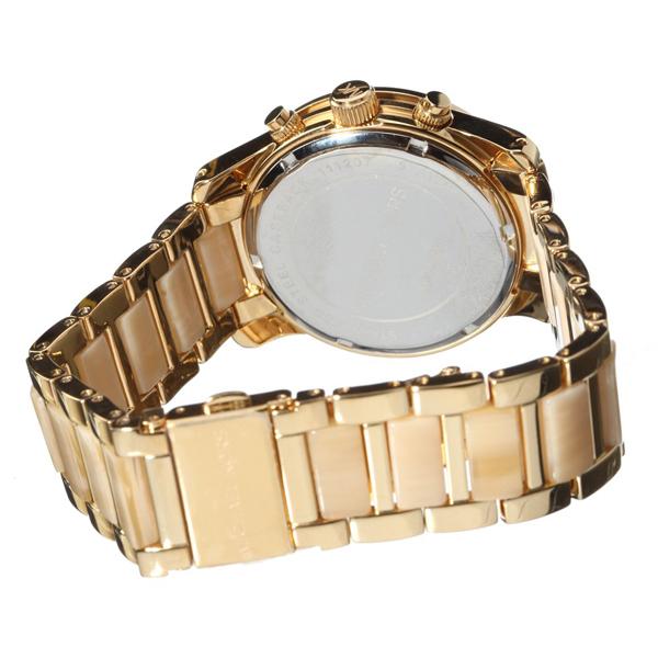 看着男装女装品牌年迈克 • 柯尔迈克尔课程妇女的不同材料的混合计时手表盒保修维修 10P01Oct16