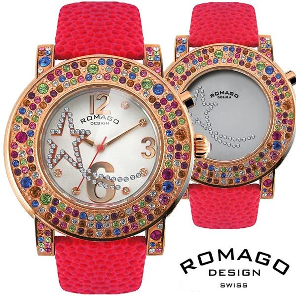 腕時計 メンズ レディース ブランド 1年保証 ★ 元KARA の ジヨン 愛用!★ 正規 ROMAGO ロマゴ BUBBLE ミラー文字盤 ビッグフェイス 腕時計 BOX 保証書付