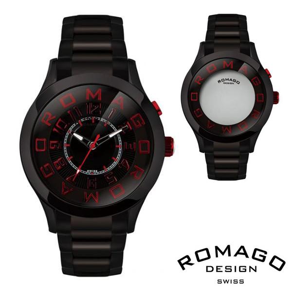 腕時計 メンズ レディース ブランド 1年保証 正規 ROMAGO ロマゴ ATTRACTION ミラー文字盤 ビッグフェイス 腕時計 BOX 保証書付