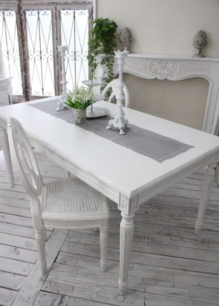 アンティーク風な木製ダイニングセット ダイニングテーブル 白 ホワイト 5点セット テーブル&椅子4脚 カントリーコーナー Country Corner Gustavienコレクション 木製 フレンチカントリー アンティーク風 フランス 送料無料
