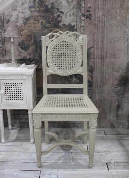 Coquecigrues コクシグル ダイニングチェア アンティーク 椅子 アンティークホワイト GRIS ANTIQUE シャビーシック フレンチカントリー フランス家具 アンティーク風