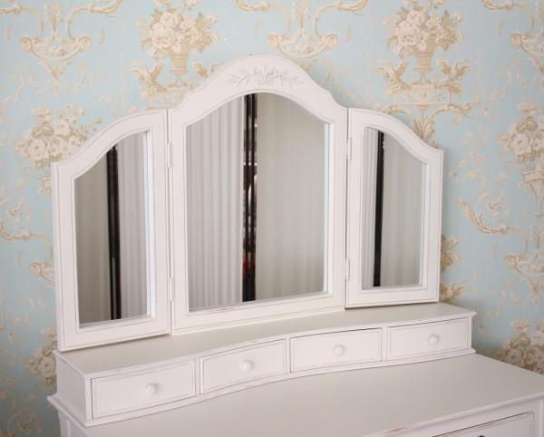 像有乡村角ROMANCE罗曼司·收集三面镜4抽屉的镜子法国白家具doressashabishikkuantiku风格古董一样的antique[38万2002]