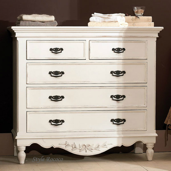 shabby chic style furniture. Country Corner ROMANCE Romance Collection Chest (5 Drawers) White House Fixture France Shabby Chic Clothes Wardrobe Storage Furniture Antique [121065] Style G