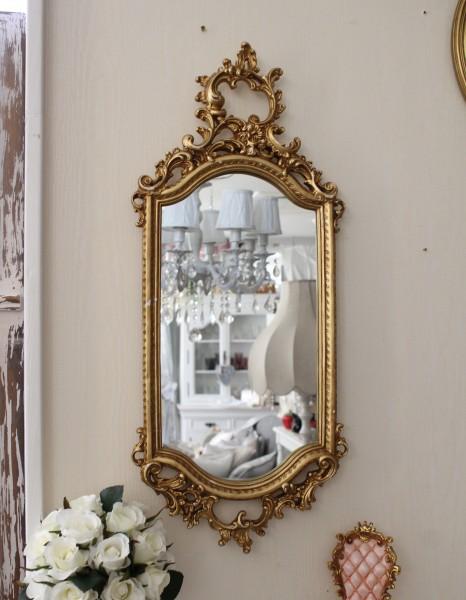 ロココ調 壁掛けミラー(ゴールド014)壁面 鏡 壁掛け ウォールデコ アンティーク風 シャビーシック ガーリー 姫系 アンティーク 雑貨 antique