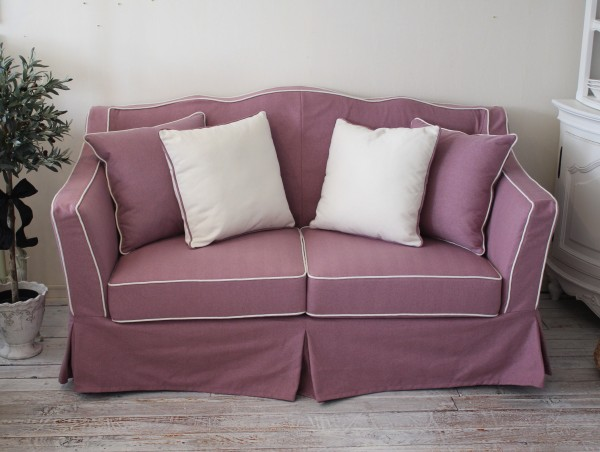 Merchandise Review Outlets, 40, ☆ French Style Skirt Sofa 2 P 2 Seat Sofa  Two French Country Shabby Chic Furniture France Cabling Sofa Sofa