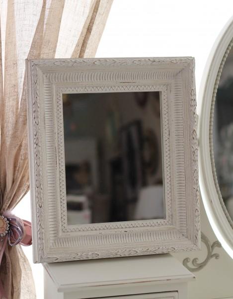 アンティーク ホワイト スクエア型ミラー(122) 壁掛けミラー 鏡 縦横OK フレンチカントリー アンティーク風 シャビーシック ホワイト 可愛い 白