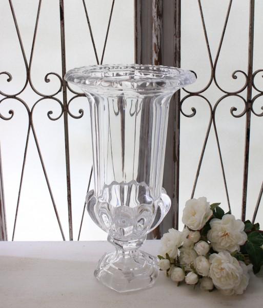 ガラスコンポート(トール) 花瓶 ヨーロピアン ガラス製 お洒落 アンティーク風 アンティーク 雑貨 姫系 輸入雑貨 シャビーシック フレンチカントリー