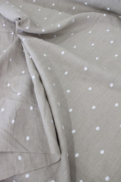 Stof France style-rococo: 100% made in france stof, french linen hemp beige