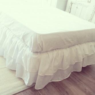 Shabby Chic Bed Skirt 100 Cotton Single Drop 45 Cm Fabric French Country Tamtam