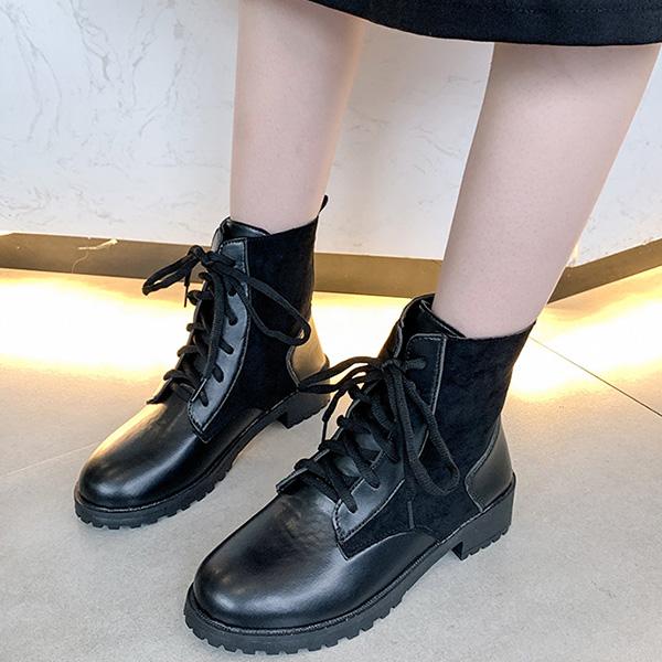 人気 アウトレットセール 特集 ブーツ ショート レースアップ エンジニアブーツ 合成皮革 PUレザー スエード ローヒール レディース ブラック シューズ あす楽対応 靴 歩きやすい 黒