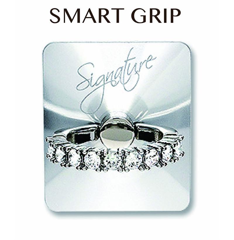 スワロフスキー使用!まるで指輪のようなスマホリング 【正規商品】Smart Grip/スマホリング/携帯落下防止/スマホアクセサリー/シグネチャーSV