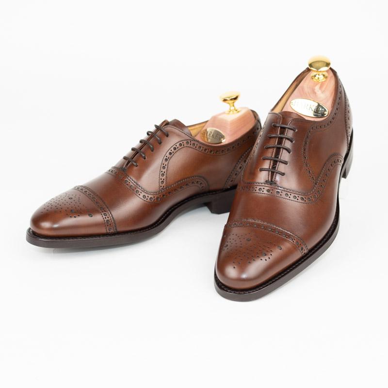 BARKER | バーカー 英国製 ラスト 386 mirfield ビジネス 紳士 本革 皮靴 靴 大きい 小さい 送料無料 交換無料 内羽根 防水 ダイナイトソール グッドイヤー 正規 雪 雨 滑らないウォールナットレースアップ セミブローグ メンズ ストレートチップ