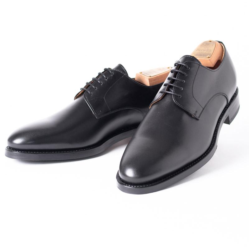 Berwick1707 | バーウィック 3011 ラスト 156 ビジネスシューズ ビジネス 小さいサイズ 大きいサイズ 本革 皮靴 靴 通気性 送料無料 交換無料 雨 雪 滑り止め 黒 ブラック カーフレザー×レザー&ラバーソール メンズ プレーントゥ