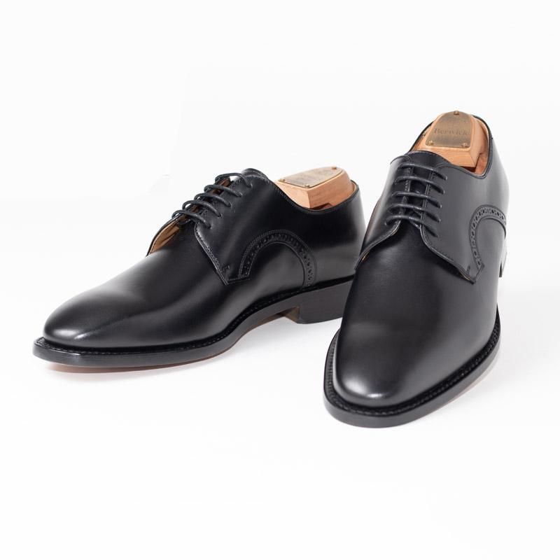 Berwick1707 | バーウィック 4478 ラスト 219 ビジネスシューズ ビジネス 小さいサイズ 大きいサイズ 本革 皮靴 靴 通気性 送料無料 交換無料 外羽根 ブローグ 黒 ブラック カーフレザー ブローグ×レザーソール メンズ プレーントゥ