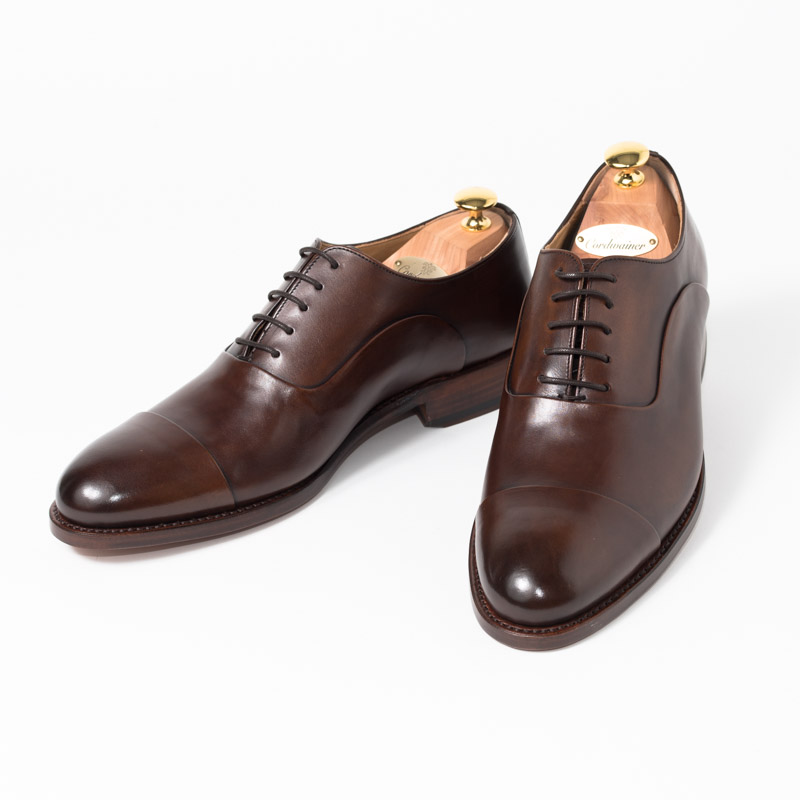 Cordwainer | コードウェイナー ASIER ビジネスシューズ ビジネス 紳士 小さいサイズ 大きいサイズ 本革 皮靴 靴 内羽根 通気性 送料無料 交換無料 グッドイヤーウェルト 茶 ダークブラウン スペイン製 ブラウン ボックスカーフ×レザーソール メンズ ストレートチップ