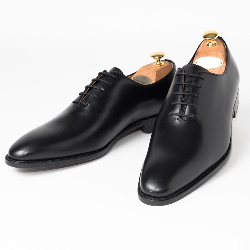 Cordwainer | コードウェイナー BOND ビジネスシューズ ビジネス 紳士 小さいサイズ 大きいサイズ 本革 皮靴 靴 通気性 送料無料 交換無料 ホールカット グッドイヤーウェルト ブラック 黒 スペイン製 ブラックボックスカーフ× レザーソール メンズ ホールカット