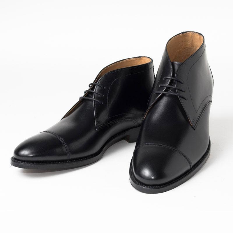 Cordwainer コードウェイナー CALABRIA ビジネスシューズ ビジネス 小さいサイズ 大きいサイズ 訳ありセール 格安 本革 皮靴 靴 通気性 外羽根 チャッカ ブラック 送料無料 ボックスカーフ カーフレザー×レザーソール ランキング総合1位 ブーツ グッドイヤーウェルト 黒 メンズ 交換無料