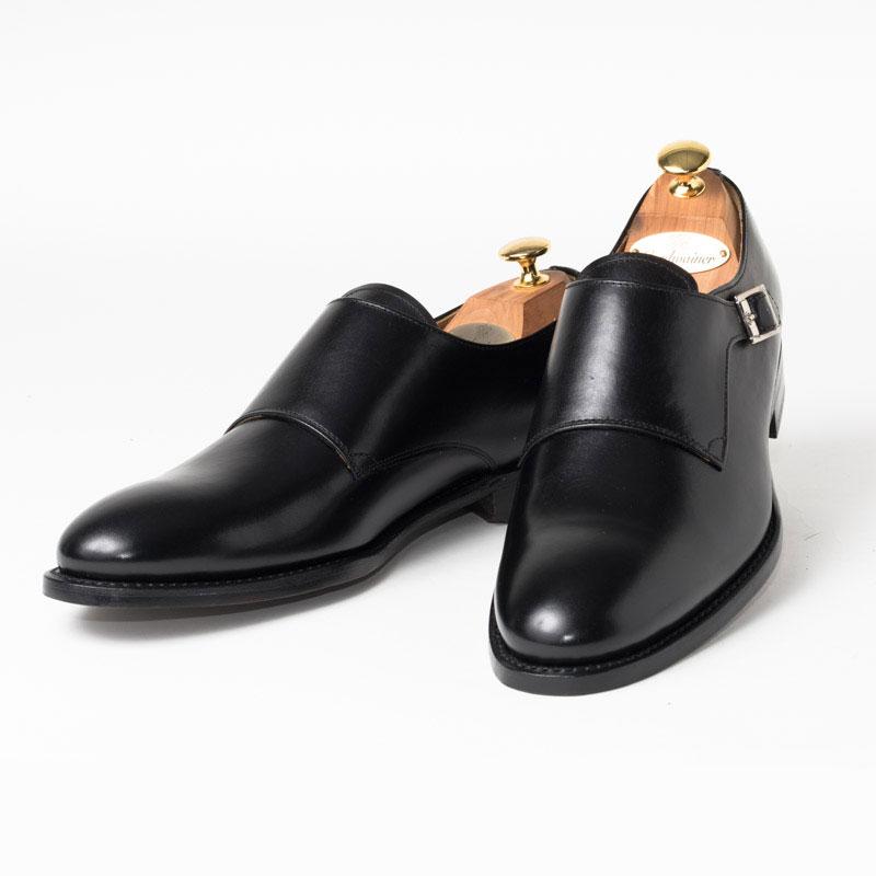 Cordwainer | コードウェイナー CALDWELL ビジネスシューズ ビジネス 小さいサイズ 大きいサイズ 本革 皮靴 靴 通気性 送料無料 交換無料 シングルモンク ストラップ グッドイヤーウェルト 黒 ブラック ボックスカーフ×レザーソール シングル メンズ モンクストラップ