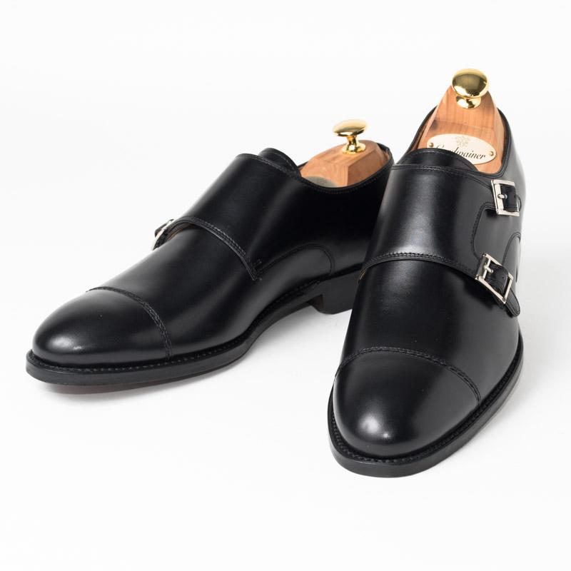 Cordwainer | コードウェイナー CALDWELL ビジネスシューズ ビジネス 小さいサイズ 大きいサイズ 本革 皮靴 靴 通気性 送料無料 交換無料 ダブルモンク グッドイヤーウェルト 黒 ブラック ブラックボックスカーフ×レザーソール ダブル メンズ モンクストラップ