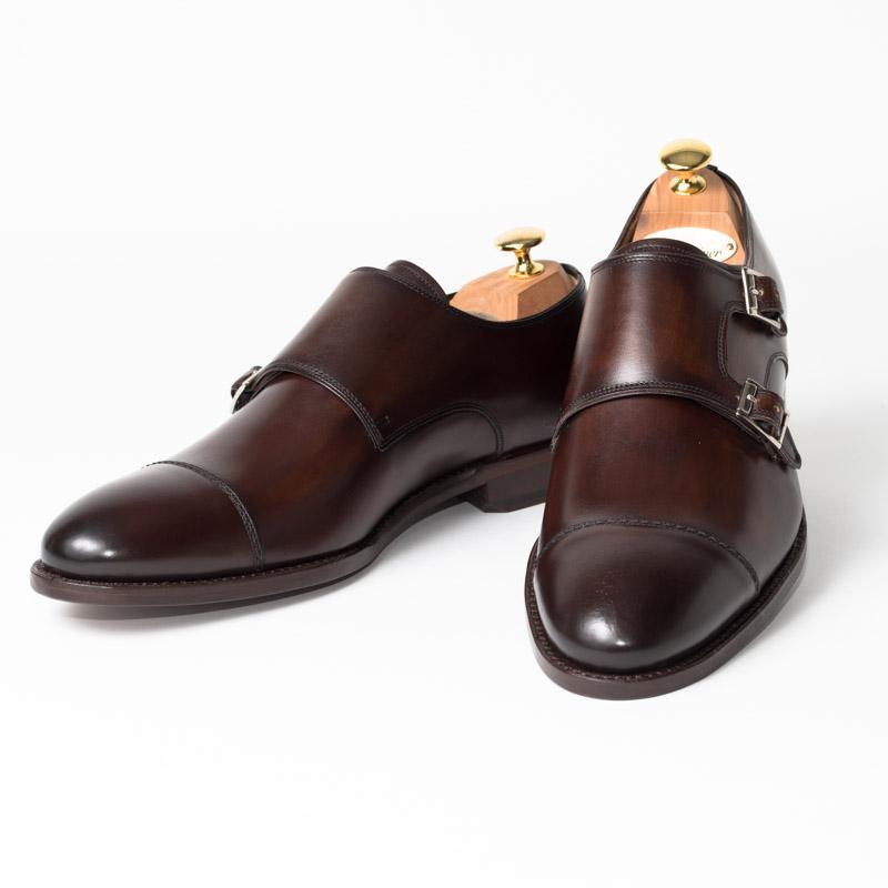 Cordwainer | コードウェイナー CALDWELL ビジネスシューズ ビジネス 紳士 小さいサイズ 大きいサイズ 本革 皮靴 靴 通気性 送料無料 交換無料 ダブルモンク グッドイヤーウェルト ダークブラウン ブラウン ボックスカーフ×レザーソールダブル メンズ モンクストラップ