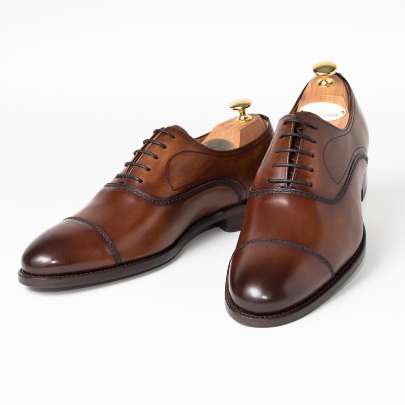 Cordwainer | コードウェイナー SLOUGH ビジネスシューズ ビジネス 小さいサイズ 大きいサイズ 本革 皮靴 靴 通気性 内羽根 送料無料 交換無料 グッドイヤーウェルト ダークブラウン タン スペイン製 ブラウン ボックスカーフ× レザーソール メンズ ストレートチップ