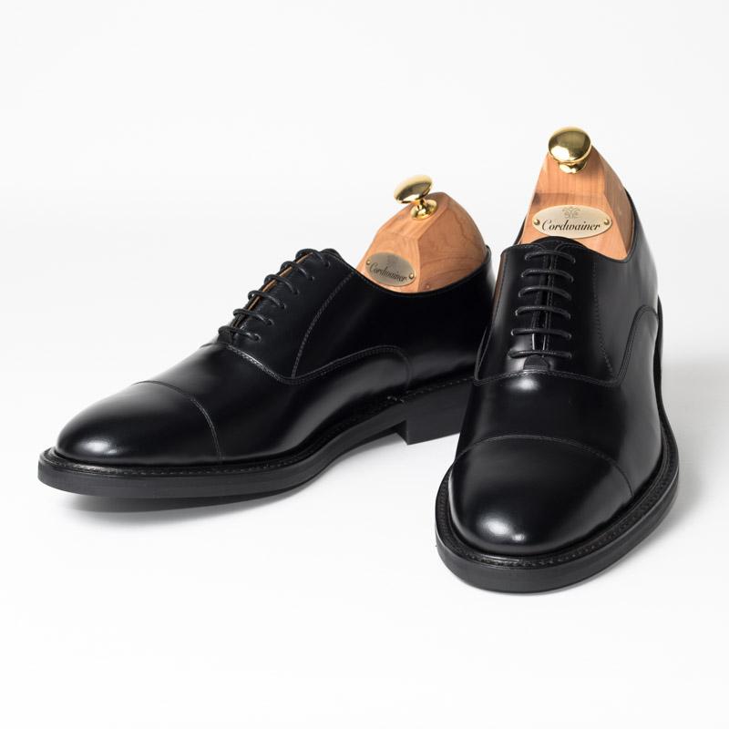 Cordwainer | コードウェイナー KELVIN モデル ビジネスシューズ ビジネス 小さいサイズ 大きいサイズ 本革 内羽根 皮靴 靴 通気性 送料無料 交換無料 すべり止め グッドイヤーウェルト ブラック 黒 ボックスカーフ× ダイナイトソール メンズ ストレートチップ