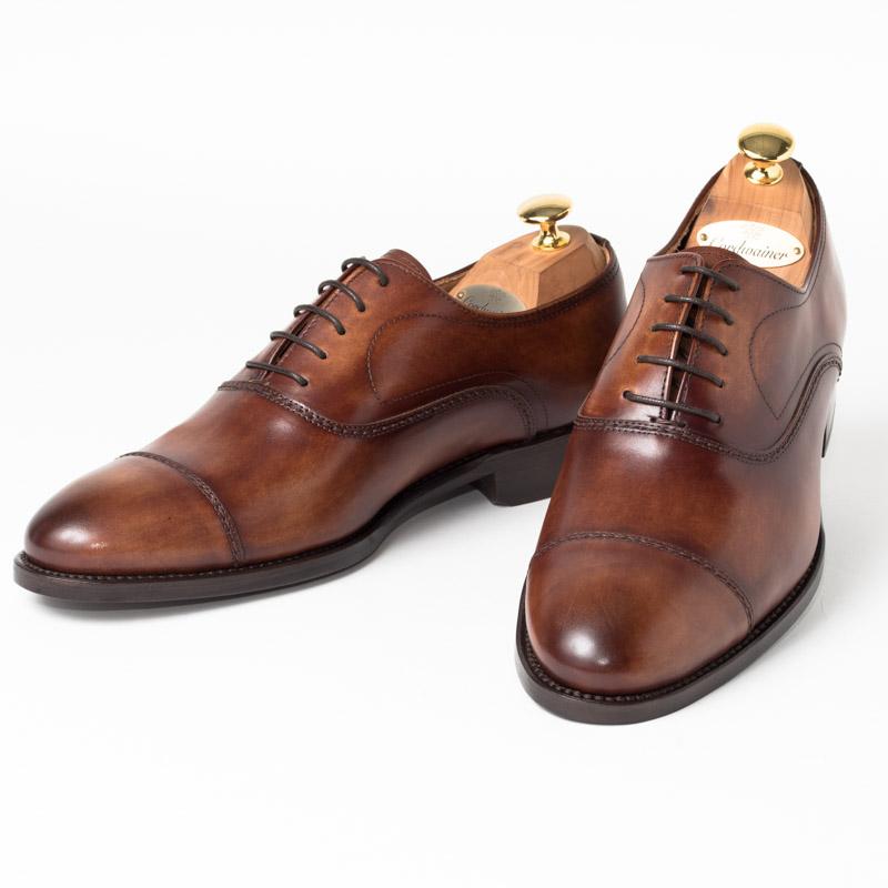 Cordwainer | コードウェイナー SLOUGH ビジネスシューズ ビジネス 小さいサイズ 大きいサイズ 本革 皮靴 靴 内羽根 通気性 送料無料 交換無料 グッドイヤーウェルト ダークブラウン ブラウン ボックスカーフ× レザーソール メンズ ストレートチップ