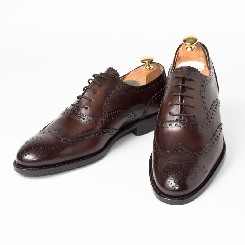 Cordwainer | コードウェイナー STRAND ビジネスシューズ ビジネス 小さいサイズ 大きいサイズ 本革 皮靴 靴 通気性 内羽根 送料無料 交換無料 グッドイヤーウェルト 茶 ダークブラウン ブラウン カーフレザー×レザーソール フルブローグ メンズ ウイングチップ