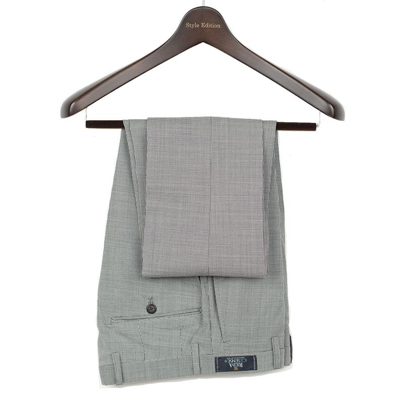 Style Edition | スタイルエディション REDA ビジネス スラックス 春夏 大きいサイズ 小さいサイズ ドレス パンツ イタリア ノータック グレー ウールパンツ クールビズ イタリー ICESENSEピンチェックグレー ノータック メンズ スラックス