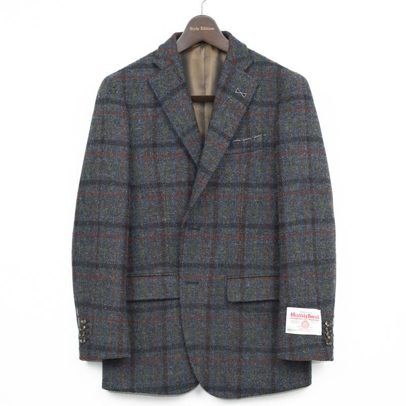 Style Edition | スタイルエディション Harris Tweed ハリスツイード ツイード ツイードジャケット カジュアル ビジネス テーラード テーラードジャケット ブレザー 大きいサイズ 小さいサイズ 秋冬 ブルーグレー チェック メンズ ジャケット