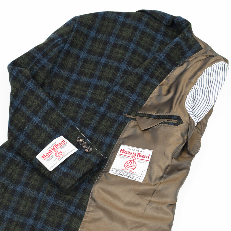 Style Editionスタイルエディション Harris Tweed ハリスツイード ツイード ツイードジャケット チェックカジュアル ビジネス テーラード テーラードジャケット 緑 ブレザー 大きいサイズ 小さいサイズ 秋冬 グリーン タータンチェック メンズ ジャケットQoWBedxCEr